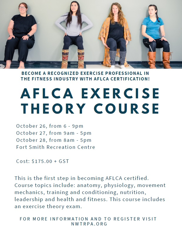 Alberta Fitness Leadership Certification Association Aflca Course