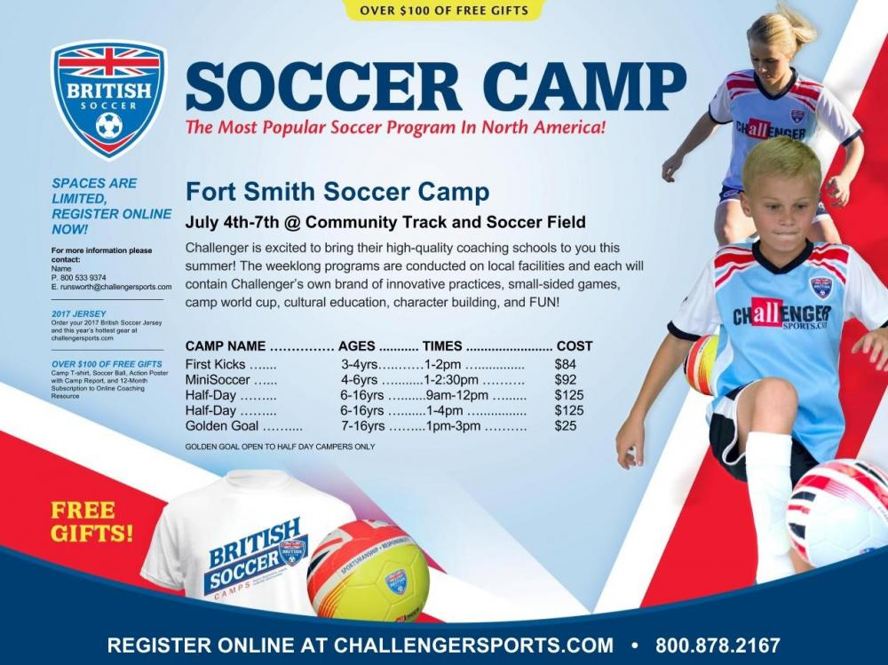 fa68cd4e3 Sign up for British Soccer Camp!   Town of Fort Smith