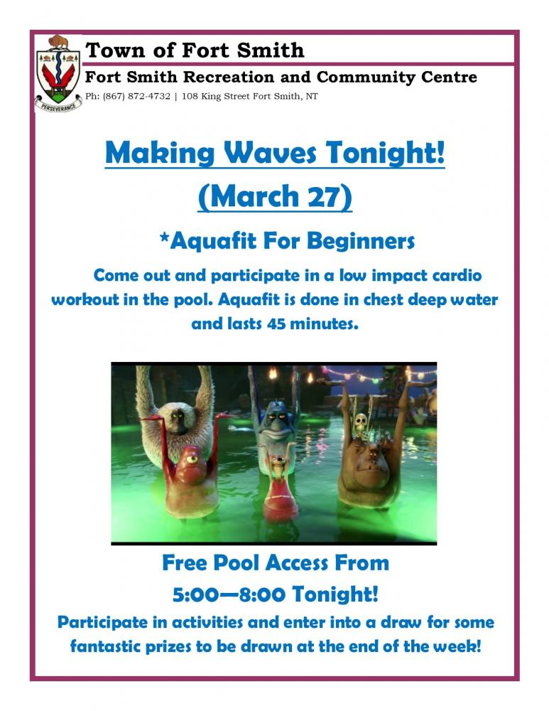 Making Waves Aquafit - Tonight! | Town of Fort Smith